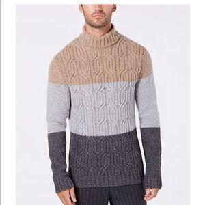 Men's Lux Colorblocked Turtleneck Sweater Tasso